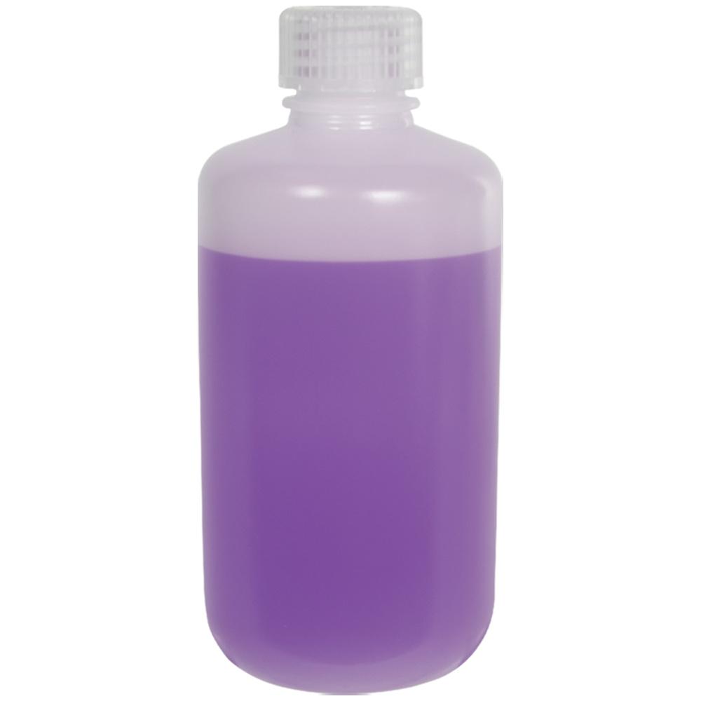 8 oz./250mL Nalgene™ Lab Quality Narrow Mouth HDPE Bottles with 24mm Caps - Case of 72
