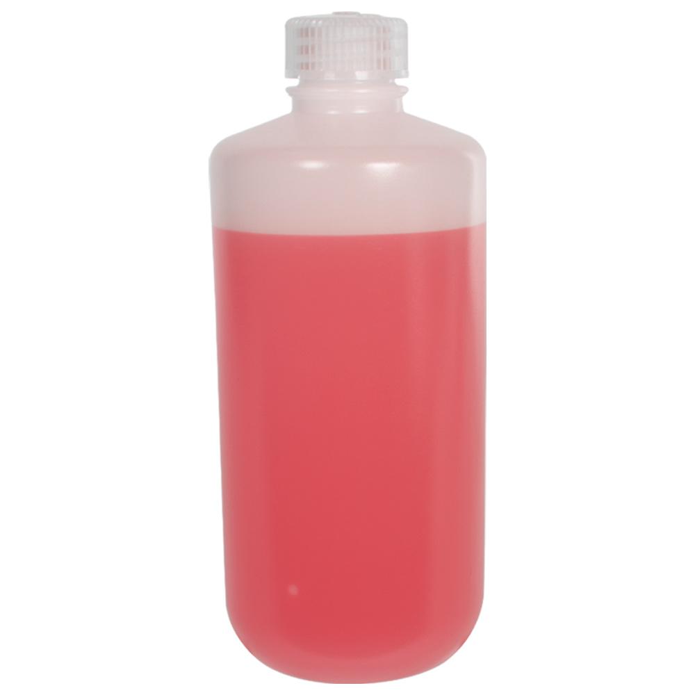 16 oz./500mL Nalgene™ Lab Quality Narrow Mouth HDPE Bottles with 28mm Caps - Case of 48
