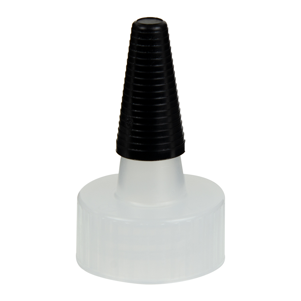 Natural Yorker Spout Caps with Long Black Tips