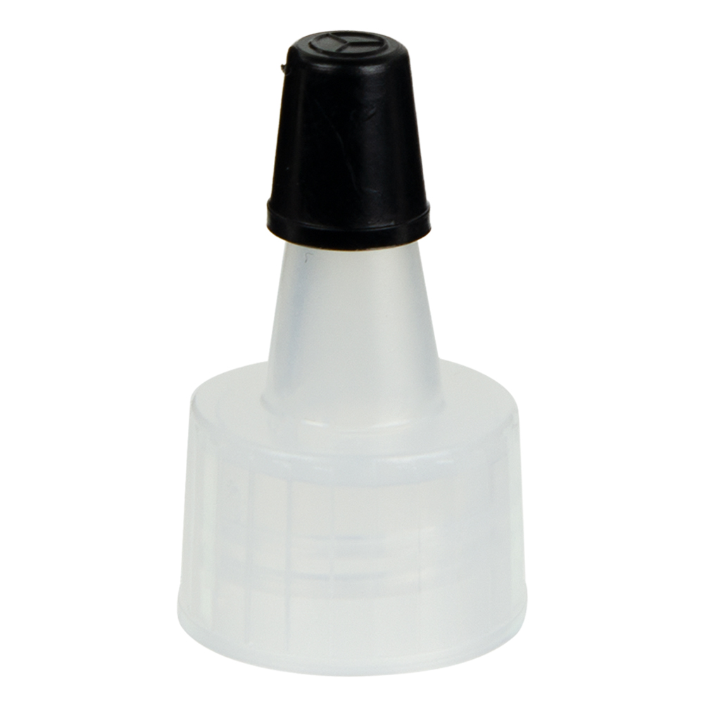 Natural Yorker Spout Cap with Regular Black Tip