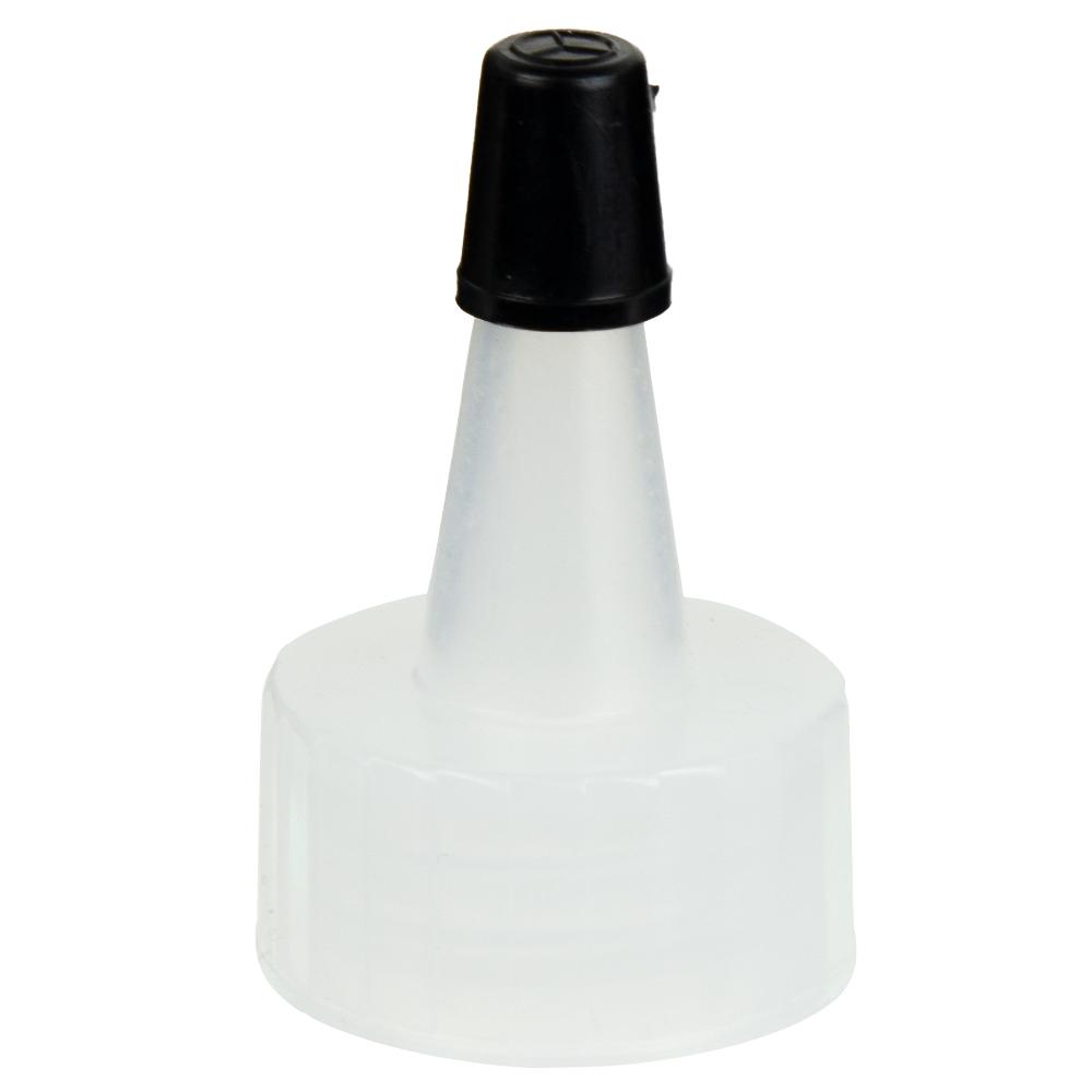 20/400 Natural Yorker Spout Cap with Regular Black Tip