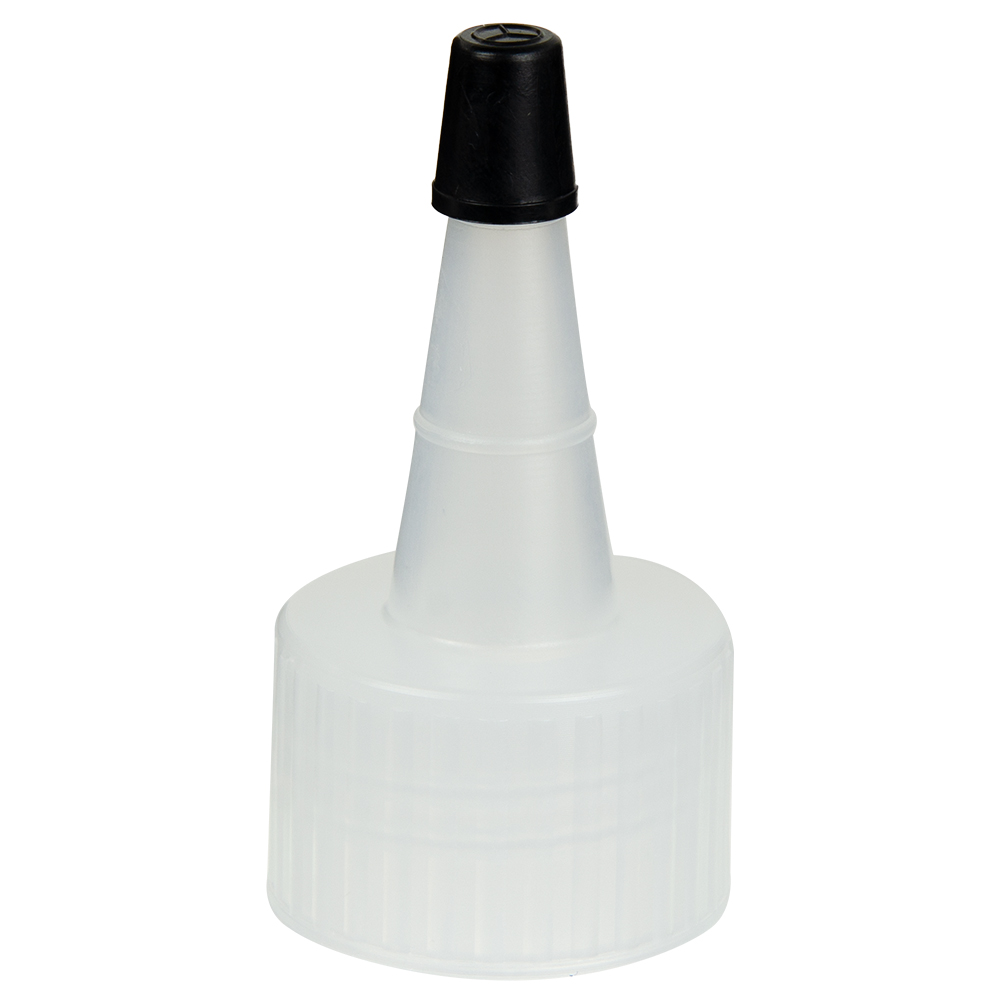 24/410 Natural Yorker Spout Cap with Regular Black Tip