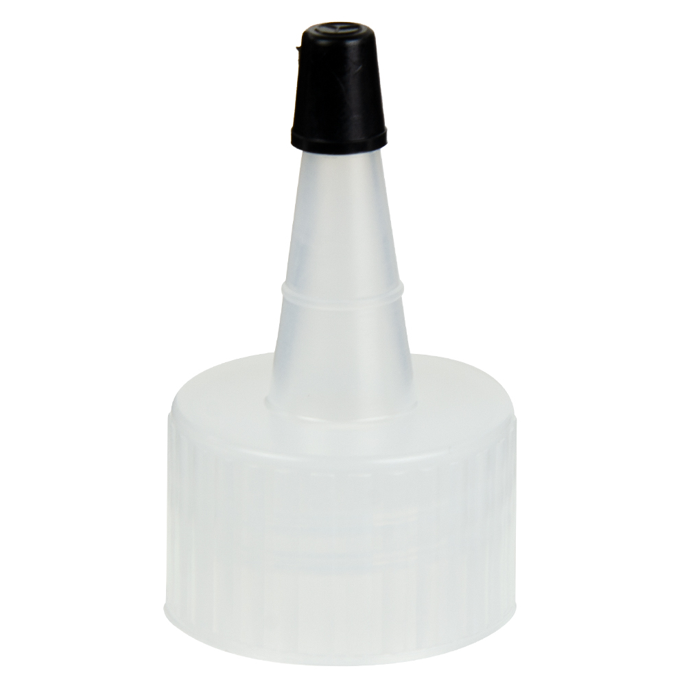 28/410 Natural Yorker Spout Cap with Regular Black Tip