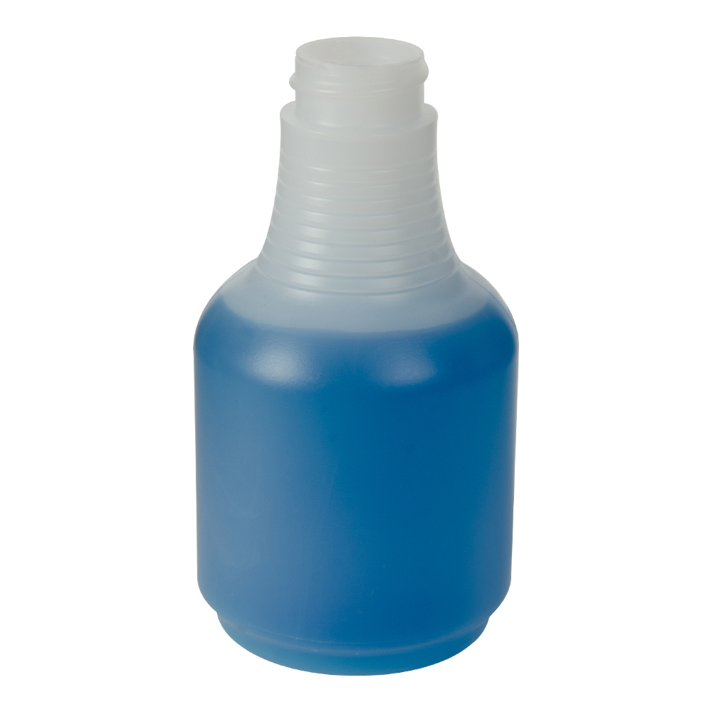 8 oz. Round Spray Bottle with 28/400 Neck (Sprayer or Cap Sold Separately)