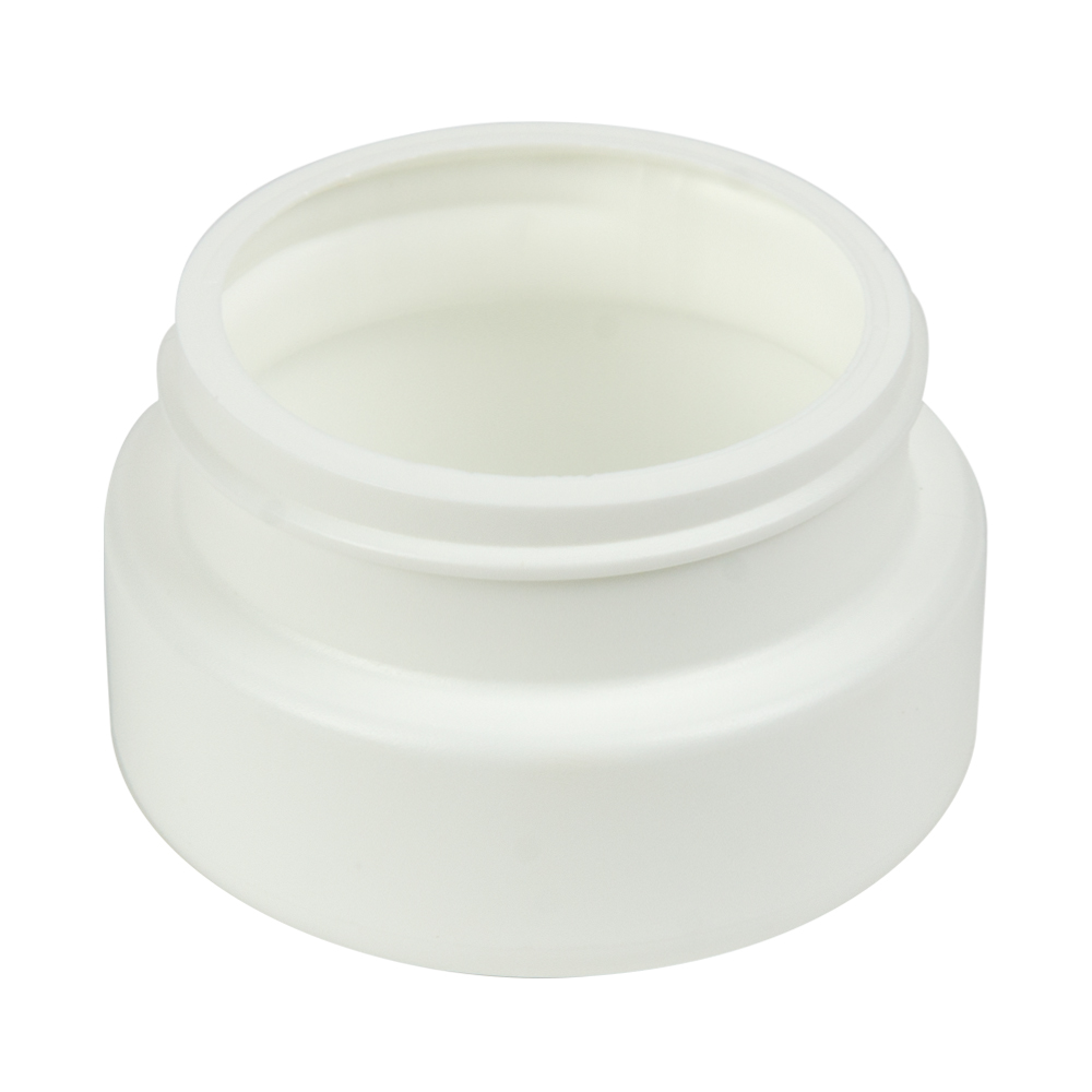2 oz. White HDPE Low Profile Jar with 53/400 Neck (Cap Sold Separately)