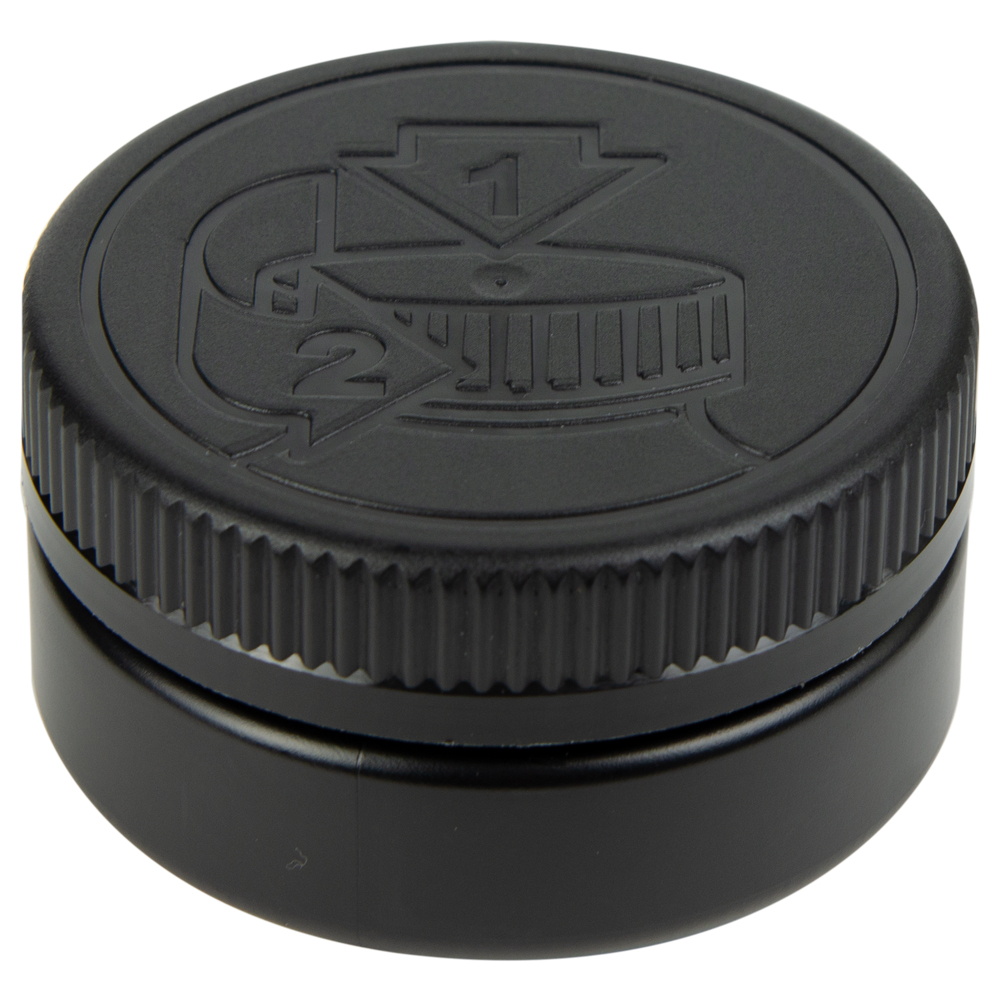 4 oz. Black HDPE Low Profile Jar with Black 70/400 CRC Cap