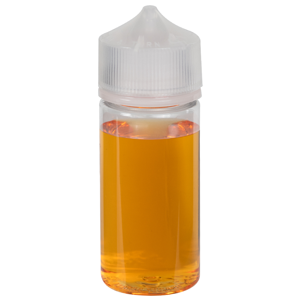 60mL Clear PET Stubby Unicorn Bottle with Natural CRC/TE Cap