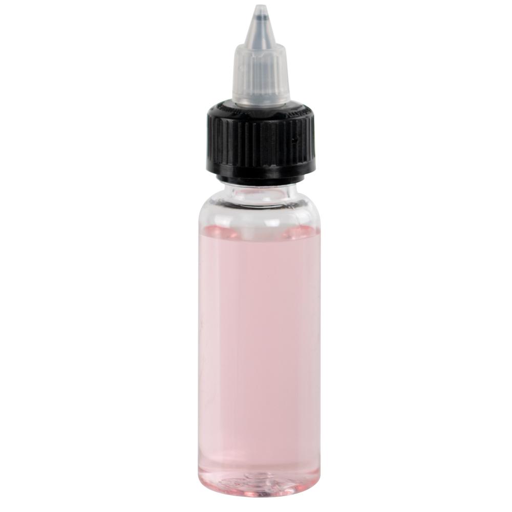 60mL Clear PET Vapenado Bottle with Black CRC Cap
