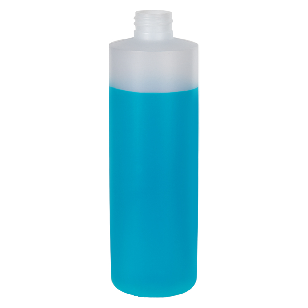 16 oz. Natural HDPE Cylindrical Sample Bottle with 24/410 Neck (Cap sold Separately)
