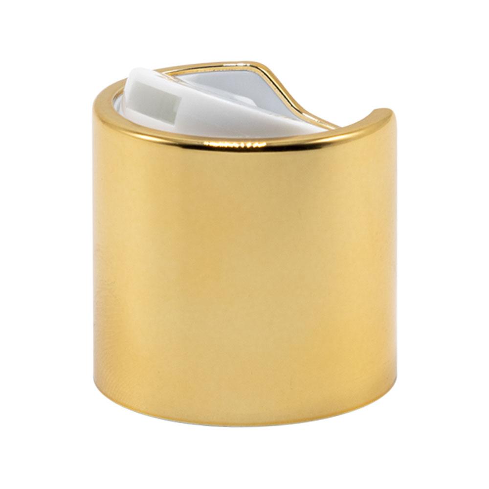 28/410 Gold & White Disc Dispensing Cap