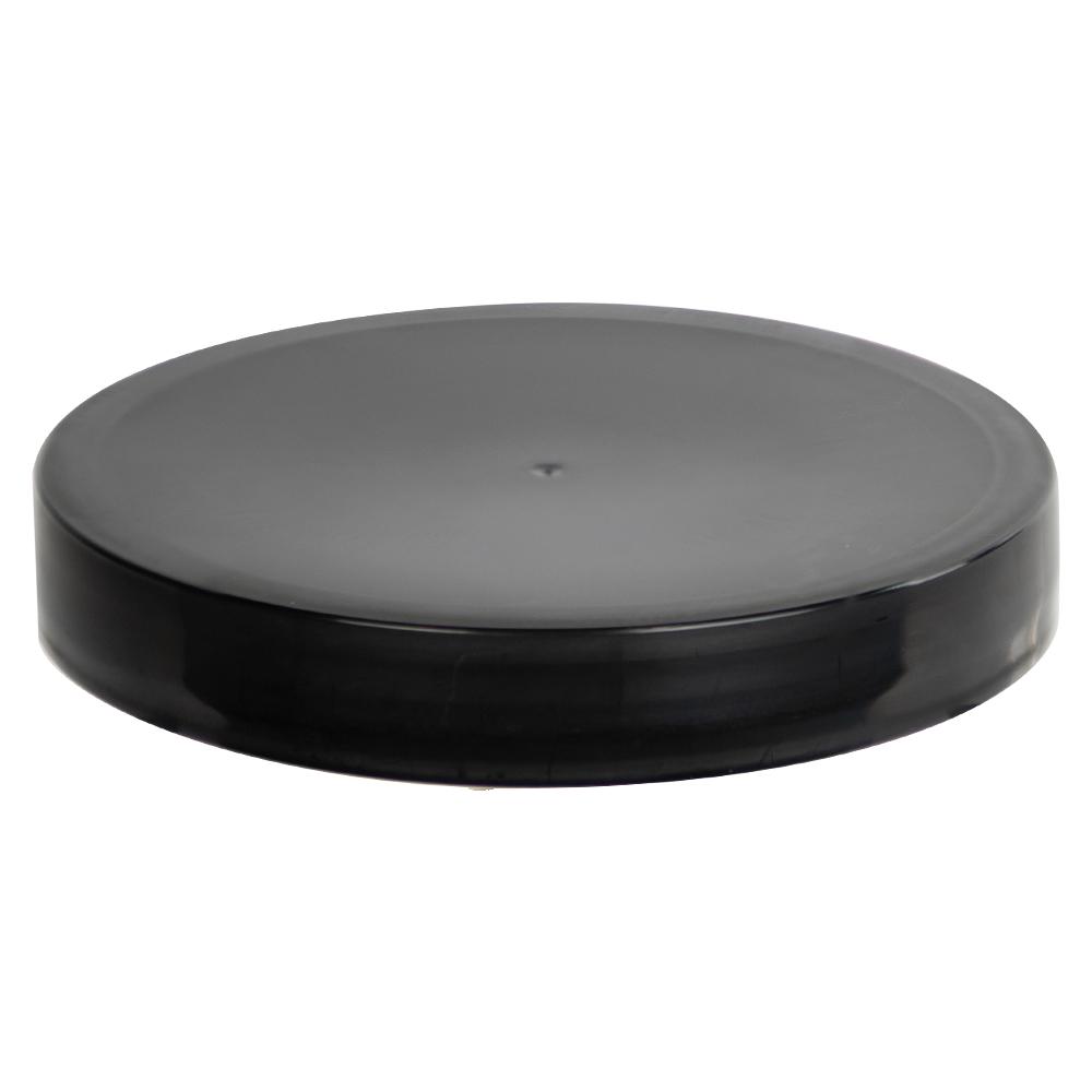 89/400 Black Polypropylene Smooth Cap with PE Foam Liner