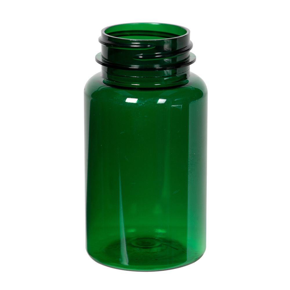 120cc Dark Green PET Packer Bottle with 38/400 Neck (Cap Sold Separately)