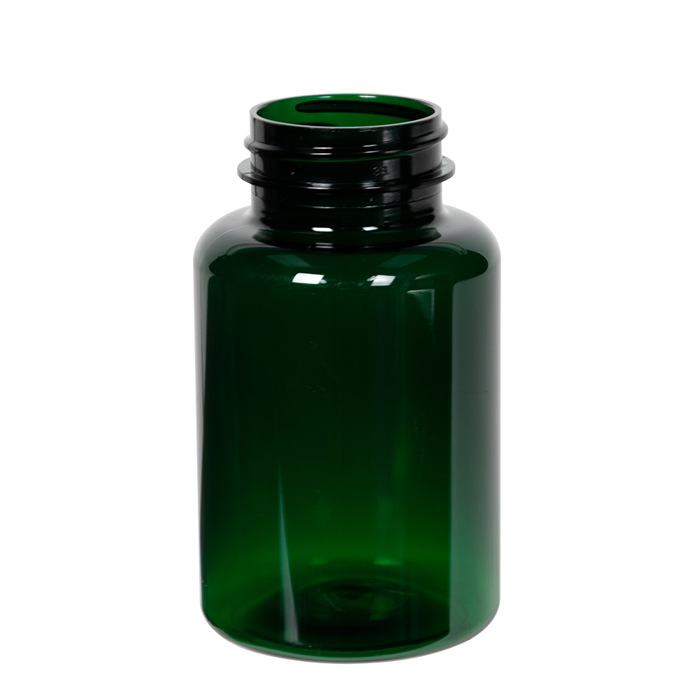 175cc Dark Green PET Packer Bottle with 38/400 Neck (Cap Sold Separately)