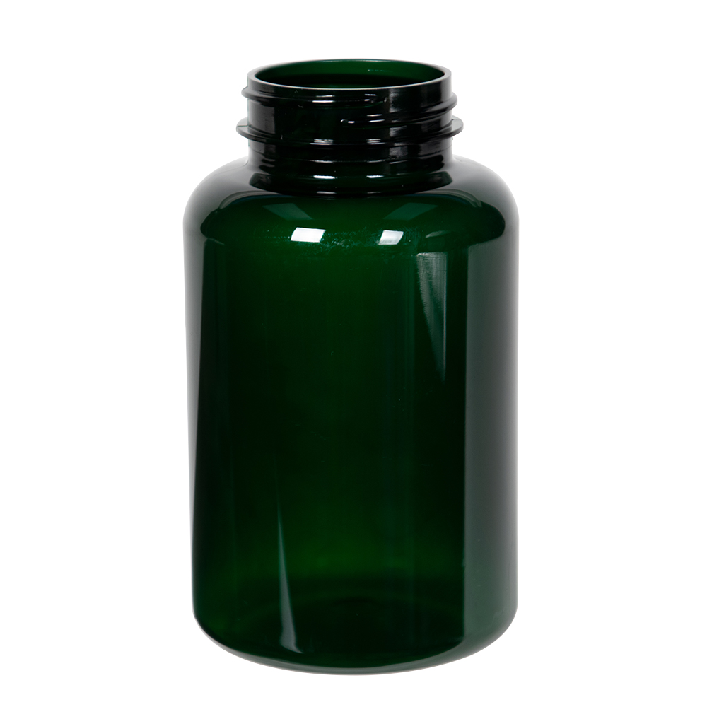 300cc Dark Green PET Packer Bottle with 45/400 Neck (Cap Sold Separately)
