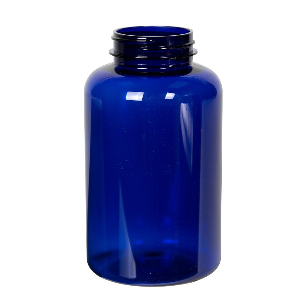 400cc Cobalt Blue PET Packer Bottle with 45/400 Neck (Cap Sold Separately)