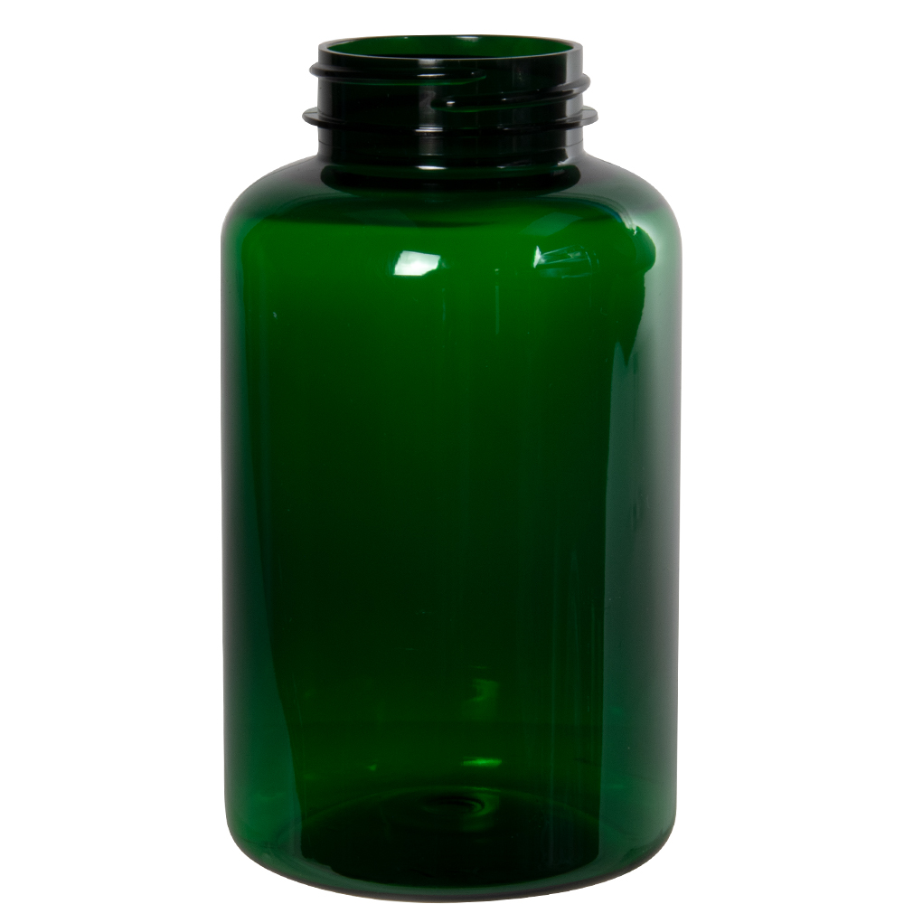 400cc Dark Green PET Packer Bottle with 45/400 Neck (Cap Sold Separately)