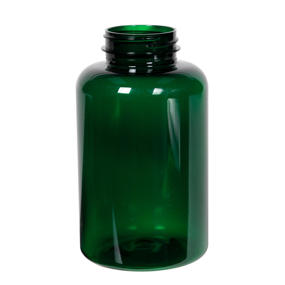500cc Dark Green PET Packer Bottle with 45/400 Neck (Cap Sold Separately)