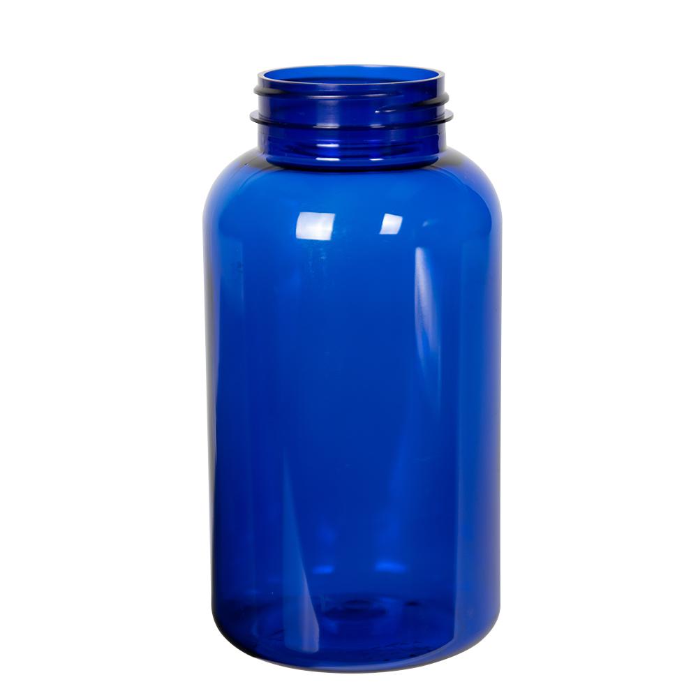 625cc Cobalt Blue PET Packer Bottle with 53/400 Neck (Cap Sold Separately)