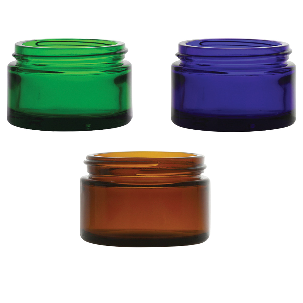 Glass Colored Jars