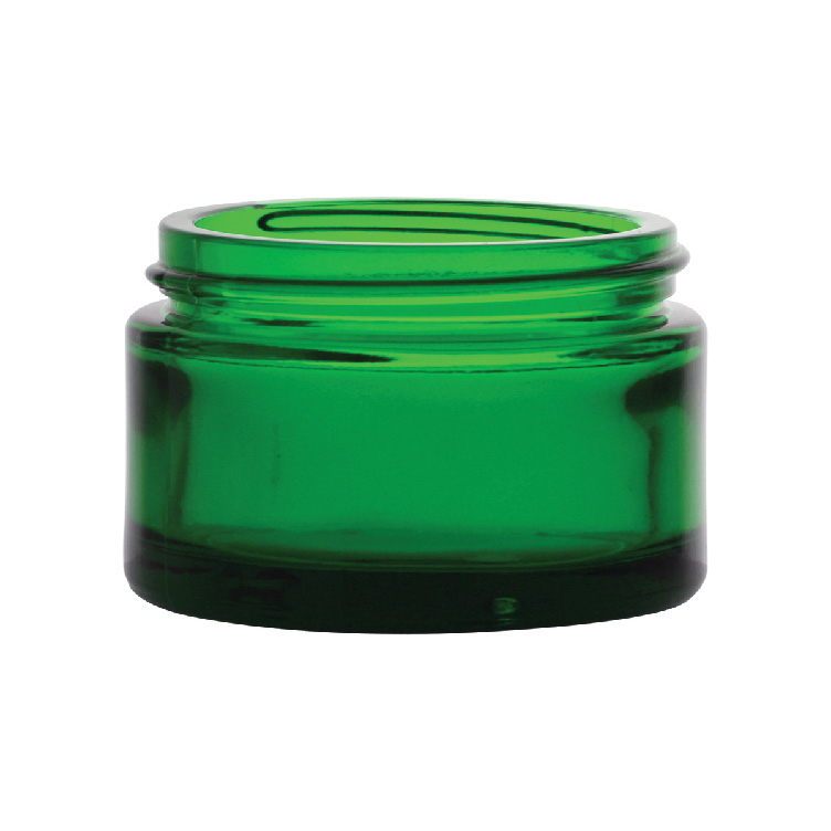 1 oz. Green Glass Jar with 48/400 Neck (Cap Sold Separately)