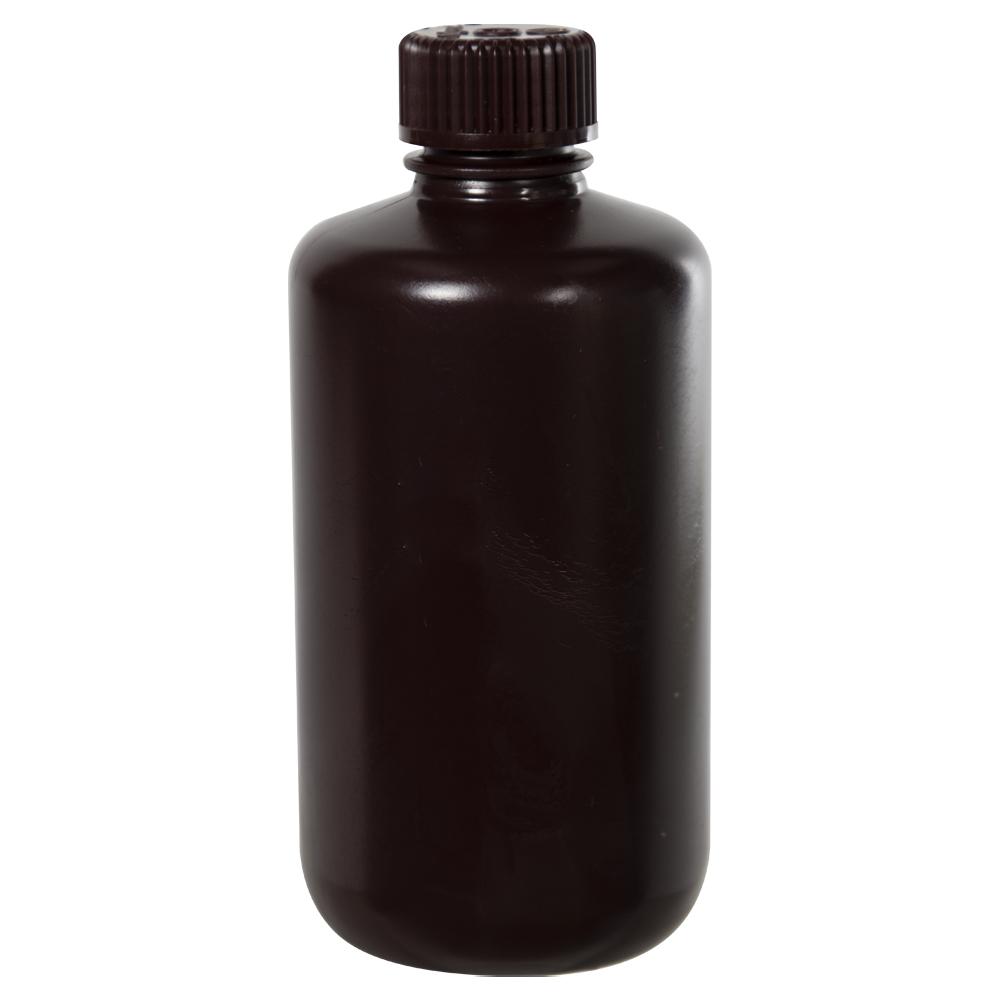 8 oz./250mL Nalgene™ Amber Narrow Mouth Bottle with 24mm Cap