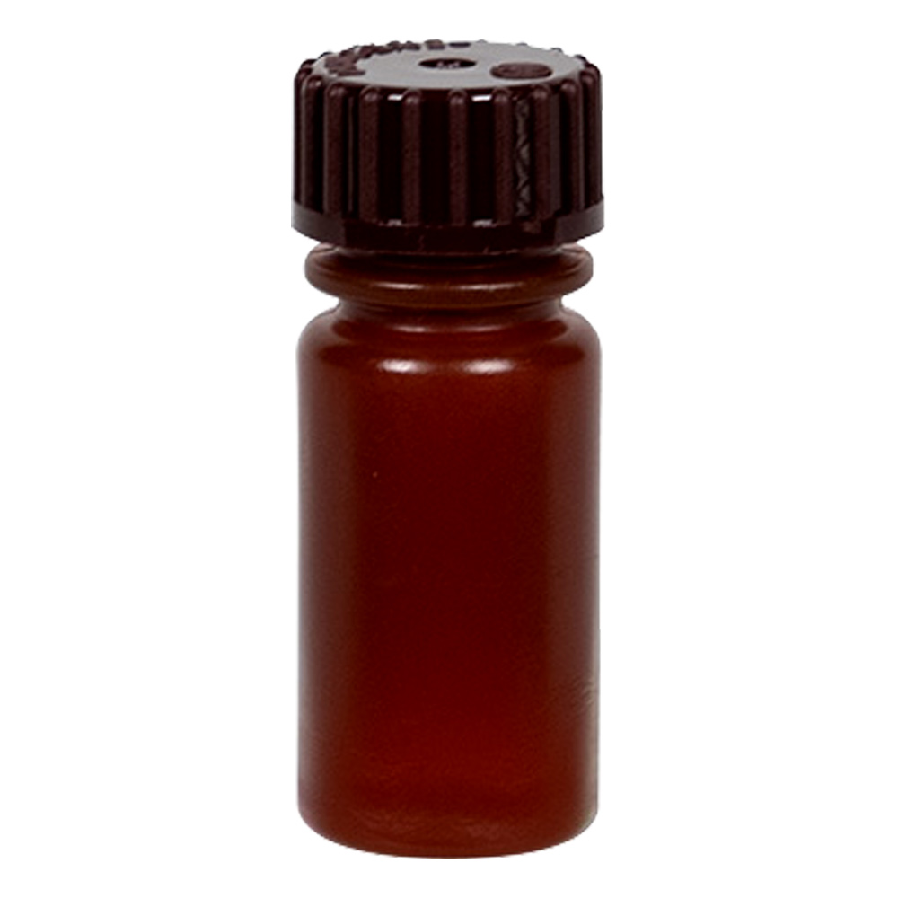 4mL Nalgene™ Narrow-Mouth Translucent Amber HDPE Bottle with 13/415 Cap