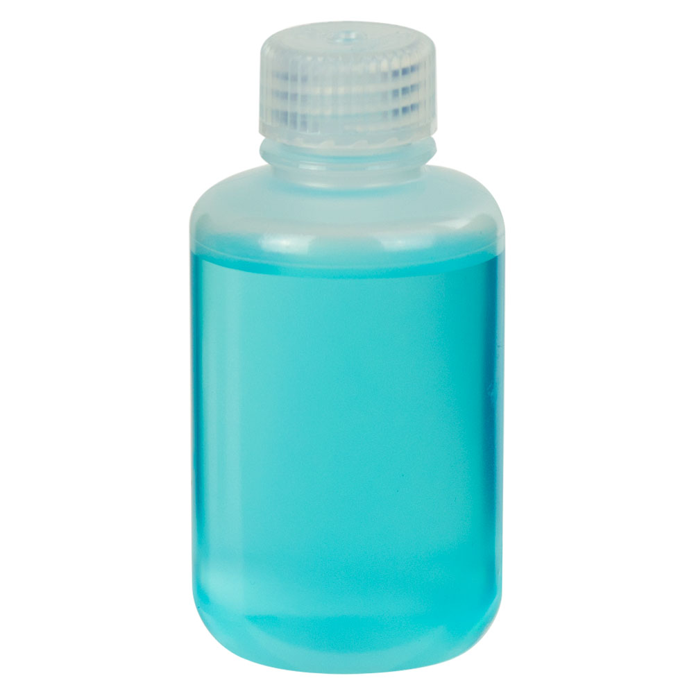 4 oz./125mL Nalgene™ Narrow Mouth Economy Polypropylene Bottle with 24mm Cap
