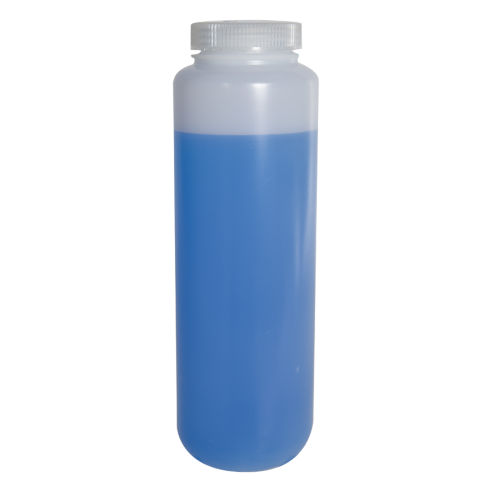 48 oz./1500mL Nalgene™ Lab Quality Wide Mouth HDPE Bottle with 63mm Cap