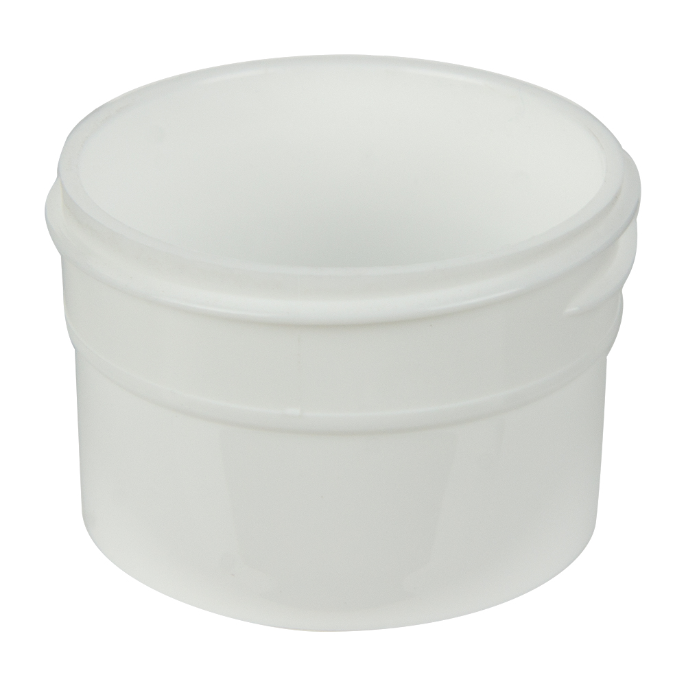 1/2 oz. Polypropylene Straight Sided White Jar with 43/400 Neck (Cap Sold Separately)