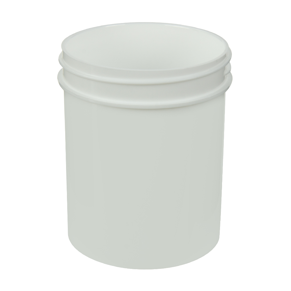 4 oz. Polypropylene Straight Sided White Jar with 58/400 Neck (Cap Sold Separately)
