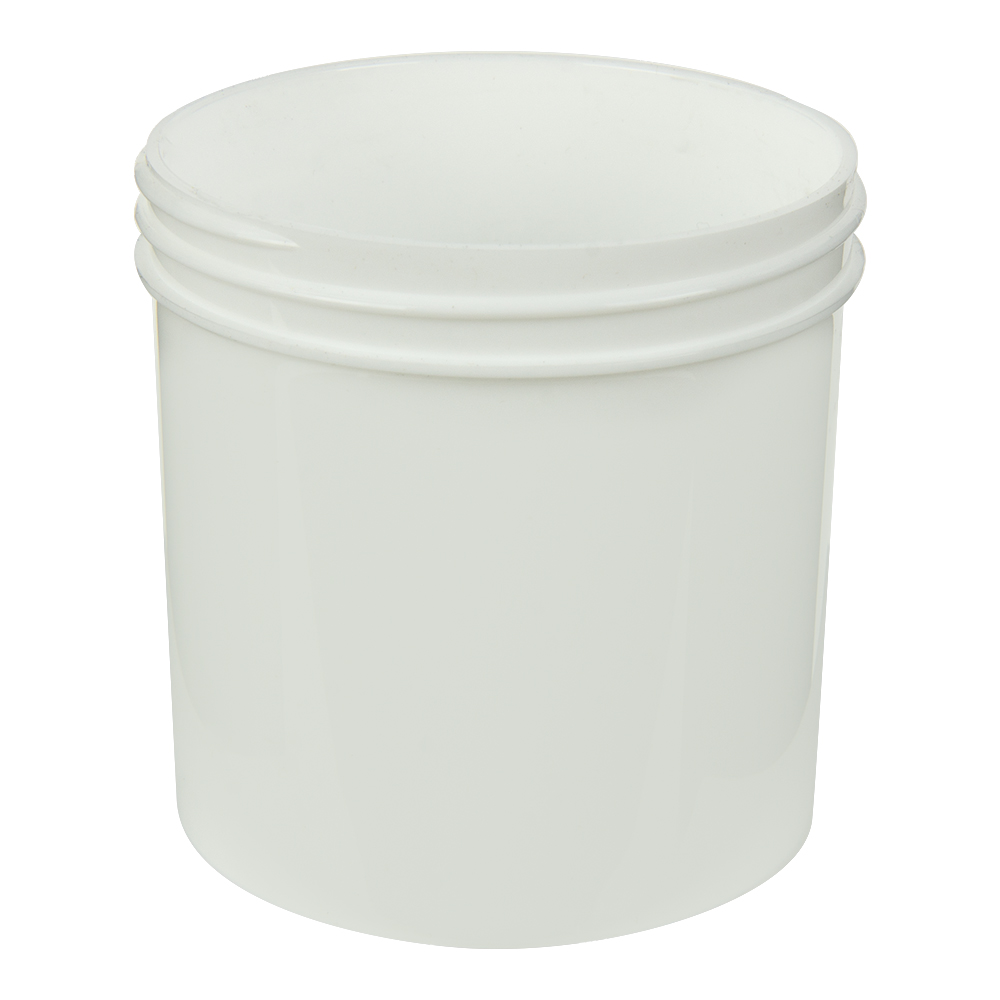 6 oz. Polypropylene Straight Sided White Jar with 70/400 Neck (Cap Sold Separately)