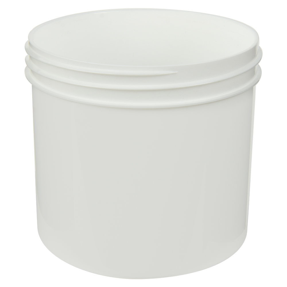 12 oz. White Polypropylene Straight Sided Jar with 89/400 Neck (Cap Sold Separately)