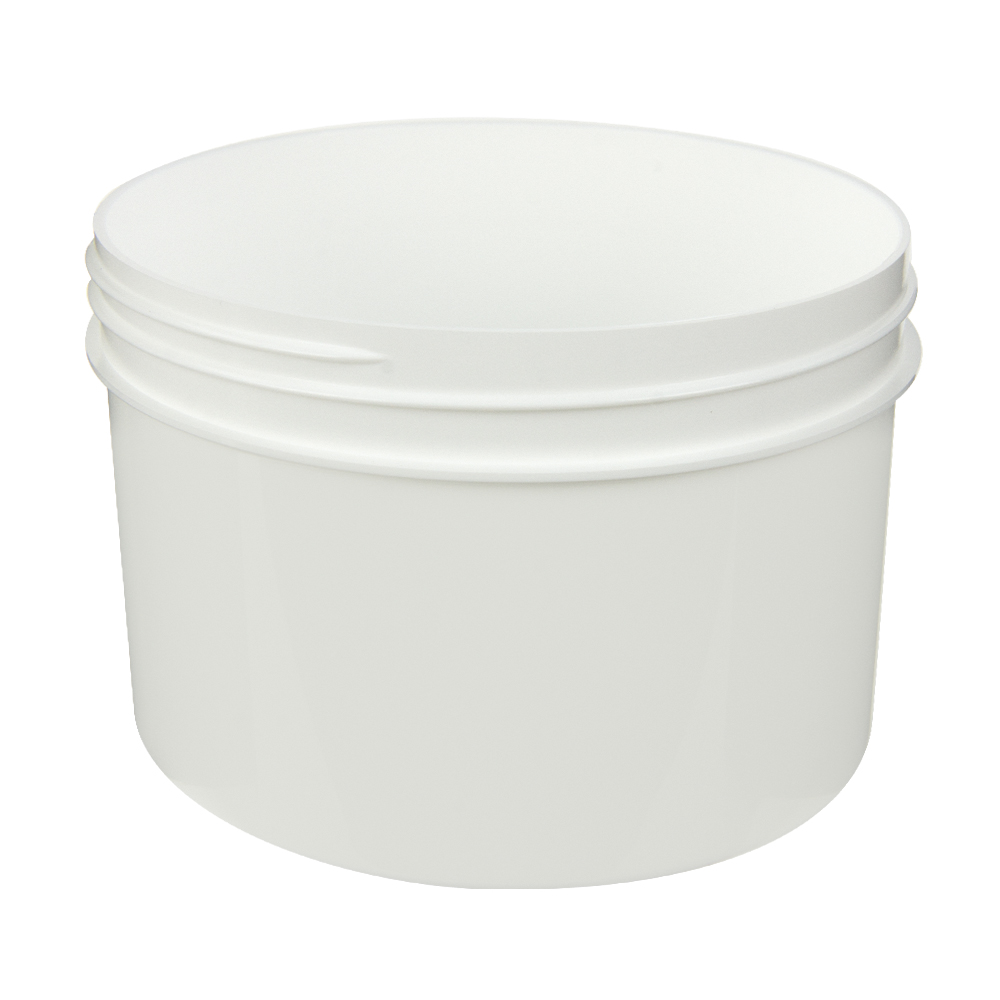 24 oz. Polypropylene Straight Sided White Jar with 120/400 Neck (Cap Sold Separately)