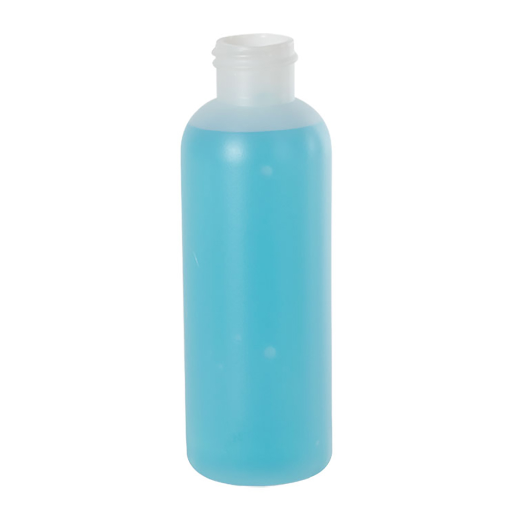 4 oz. HDPE Natural Cosmo Bottle 24/410 Neck  (Cap Sold Separately)