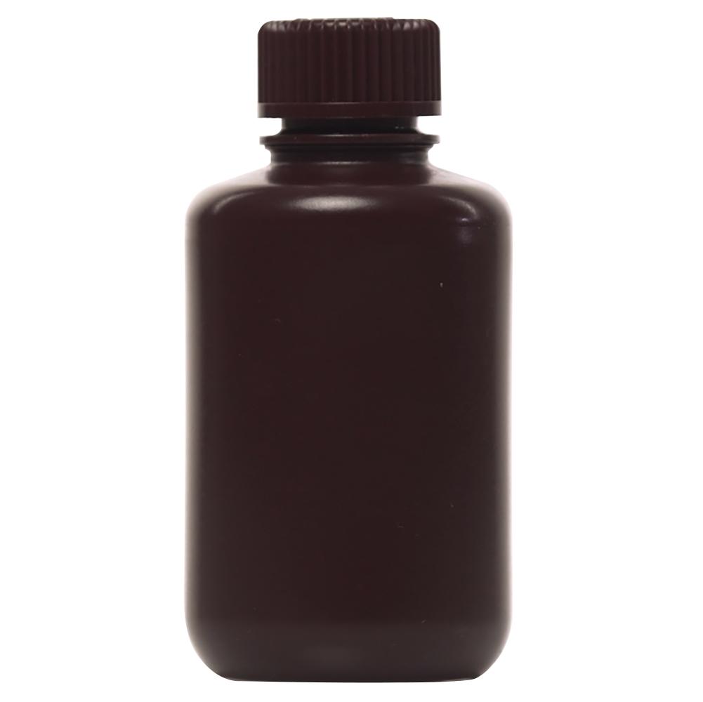 4 oz./125mL Nalgene™ Amber Narrow Mouth Economy Bottle with 24mm Cap