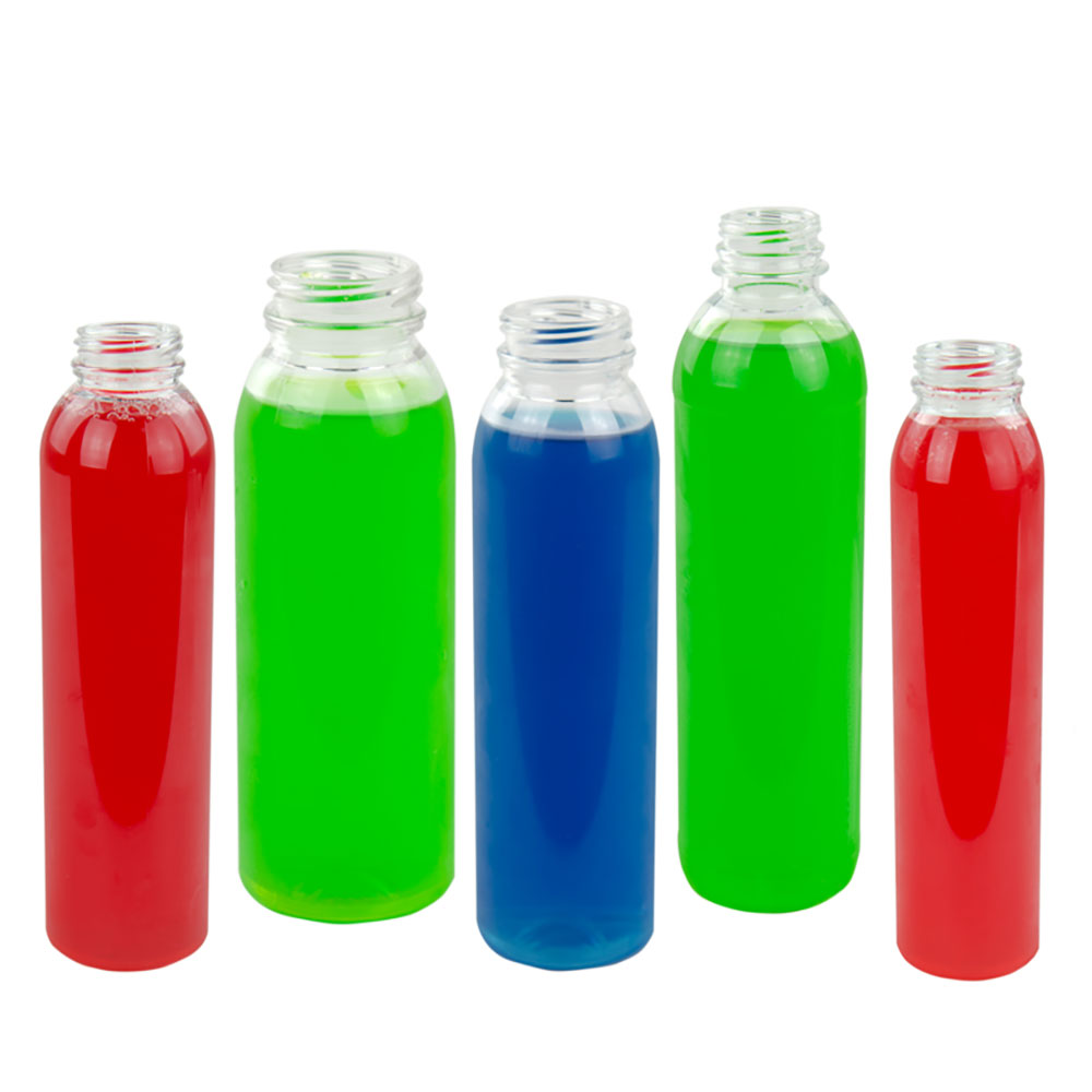 Round Energy PET Beverage Bottles & DBJ Caps