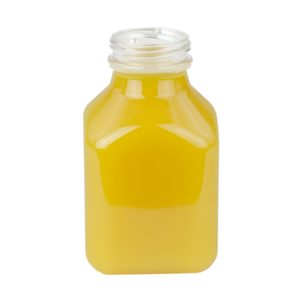 8 oz. SQB Square PET Beverage Bottle with 38mm DBJ Neck  (Cap Sold Separately)