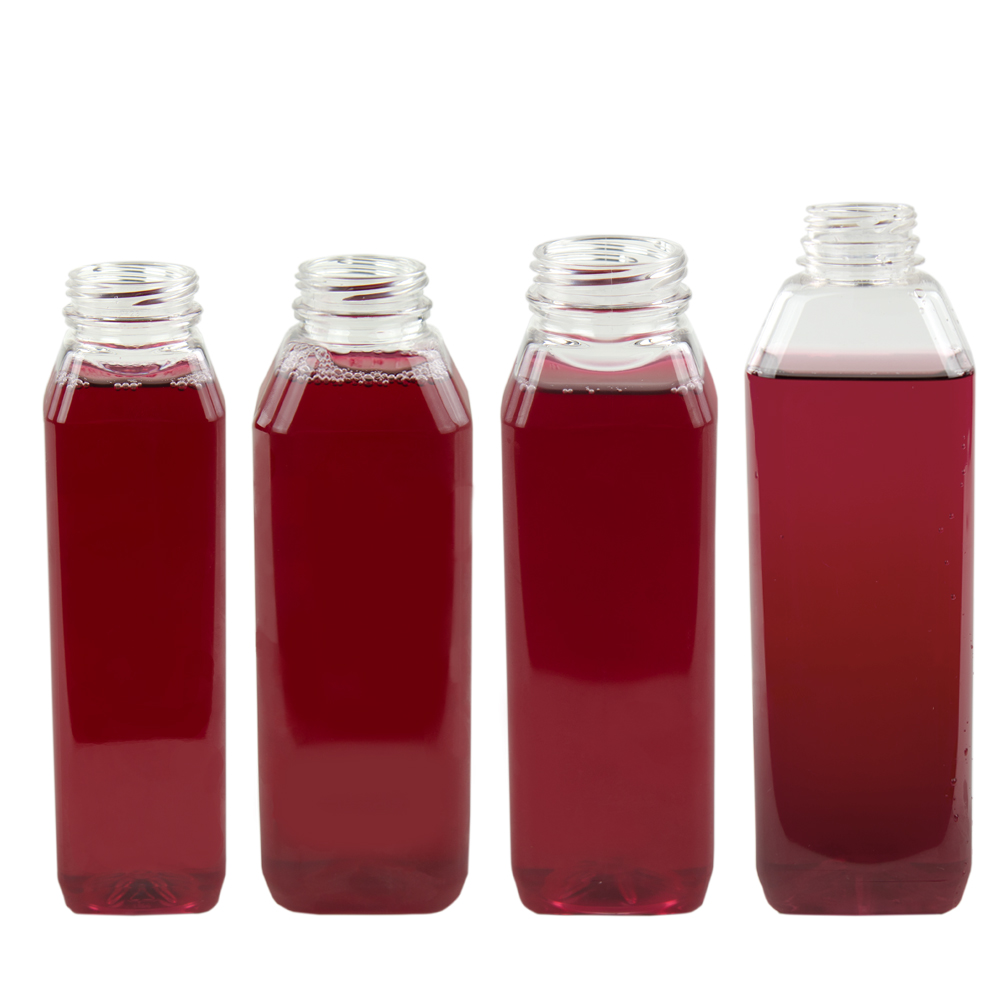 WH Square PET Beverage Bottles & Caps