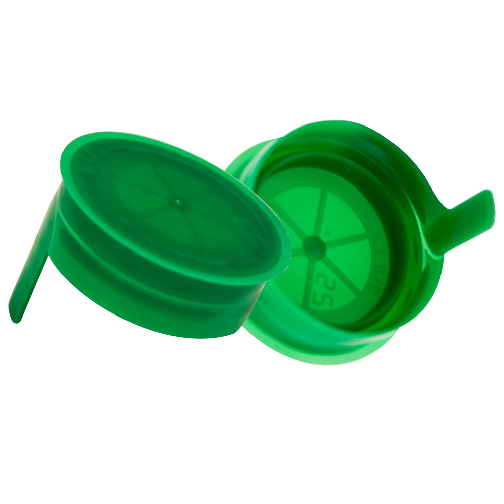 38mm Green STT LDPE Tamper Evident Snap On Cap
