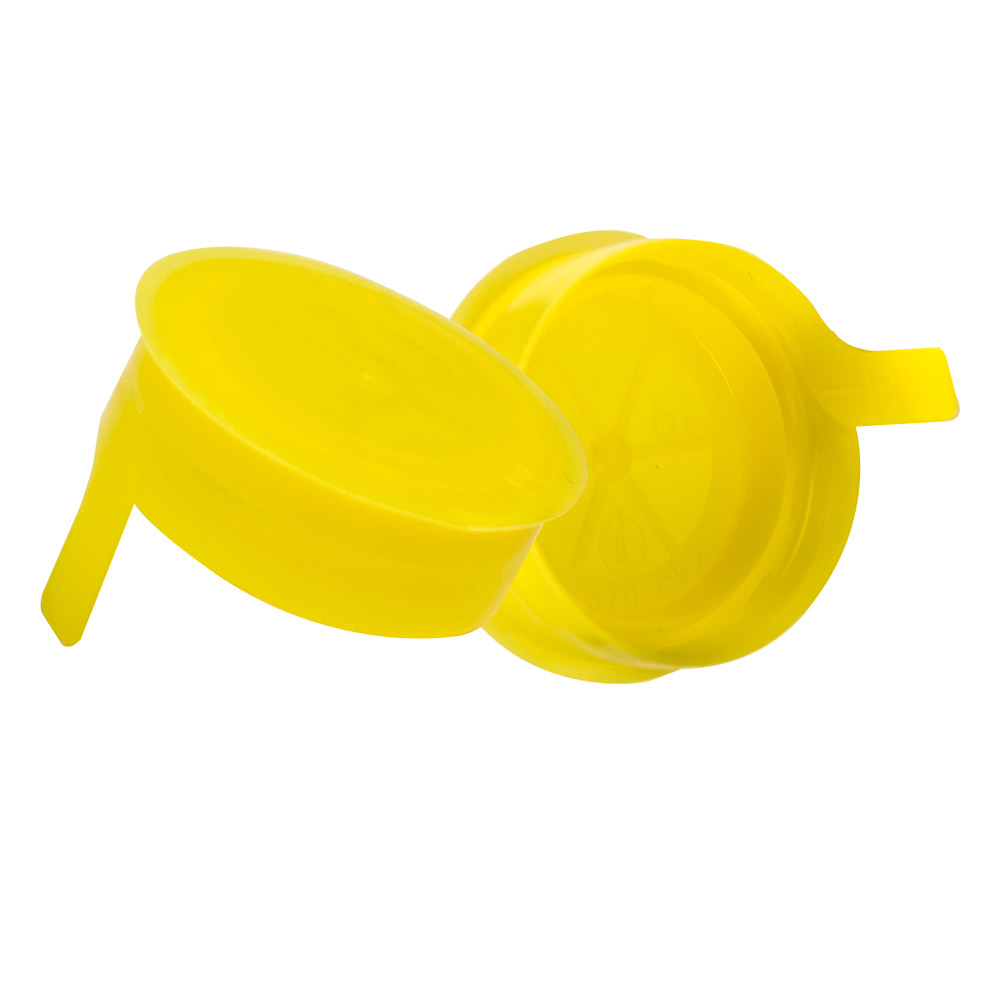 38mm Yellow STT LDPE Tamper Evident Snap On Cap
