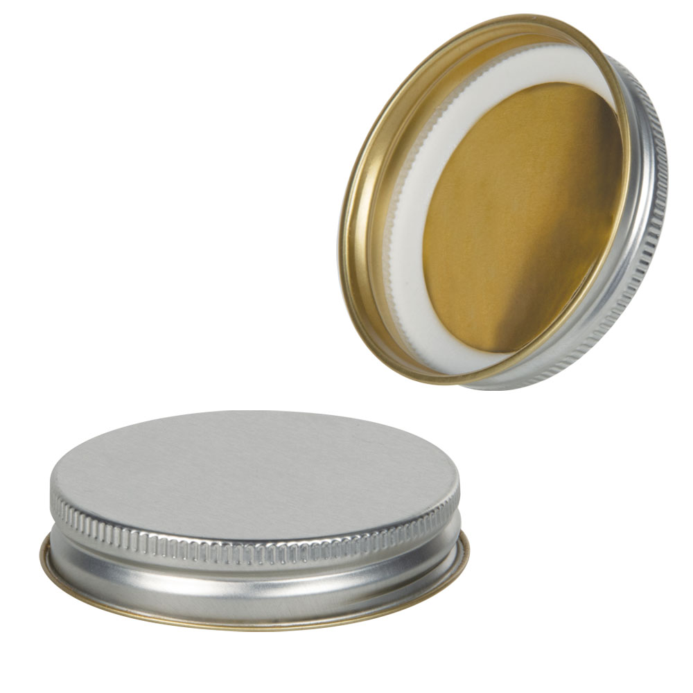 70G-450 Silver Metal Cap with Plastisol Liner & No Button