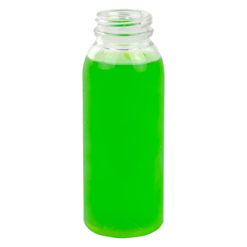 8 oz. Round Energy PET Beverage Bottle with 38mm DBJ Neck (Cap Sold Separately)