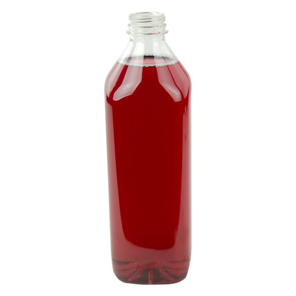 1.5 Liter PET Square Beverage Bottle with 38mm DBJ Neck (Cap Sold Separately)