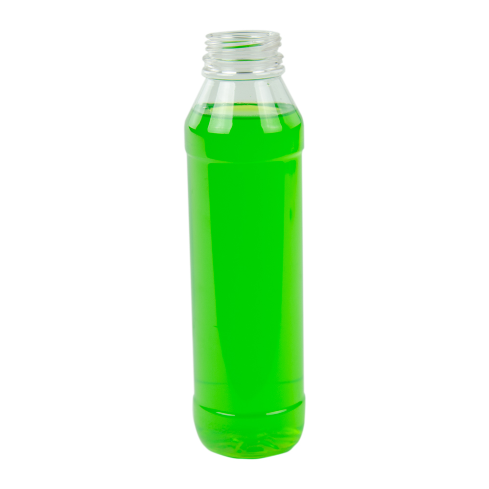 13.5 oz./400mL PET Round Beverage Bottle with 38mm DBJ Neck (Cap Sold Separately)