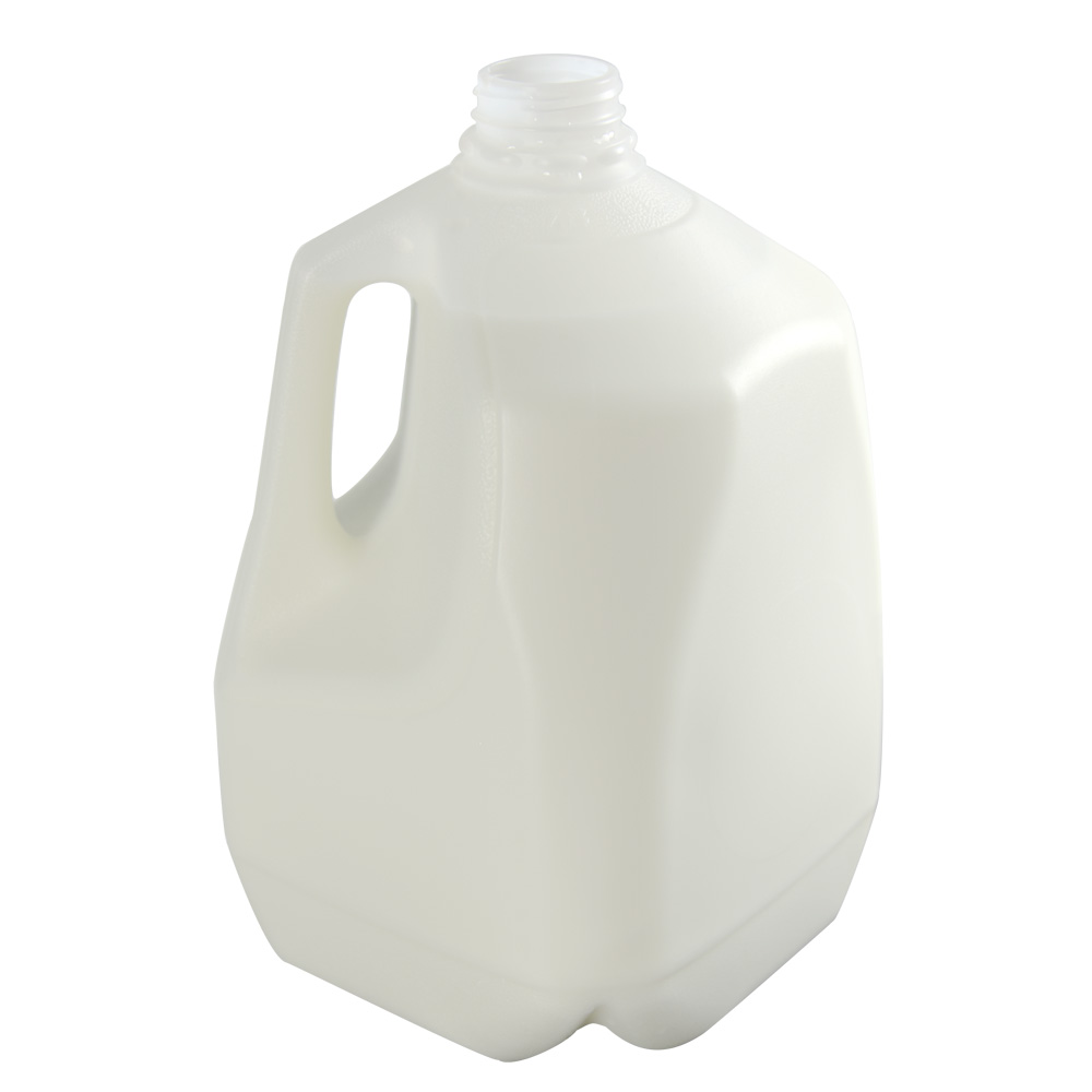 128 oz. Squat HDPE Dairy Bottle with 38mm DBJ Neck  (Cap Sold Separately)