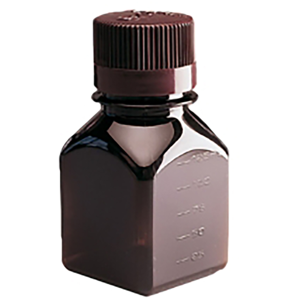 "60mL PETG Amber Bottle 24/415 Neck 1.6"" Dia. x 3.2"" H"