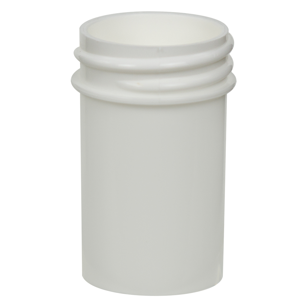 7/8 oz. Polypropylene Straight Sided White Jar with 33/400 Neck (Cap Sold Separately)