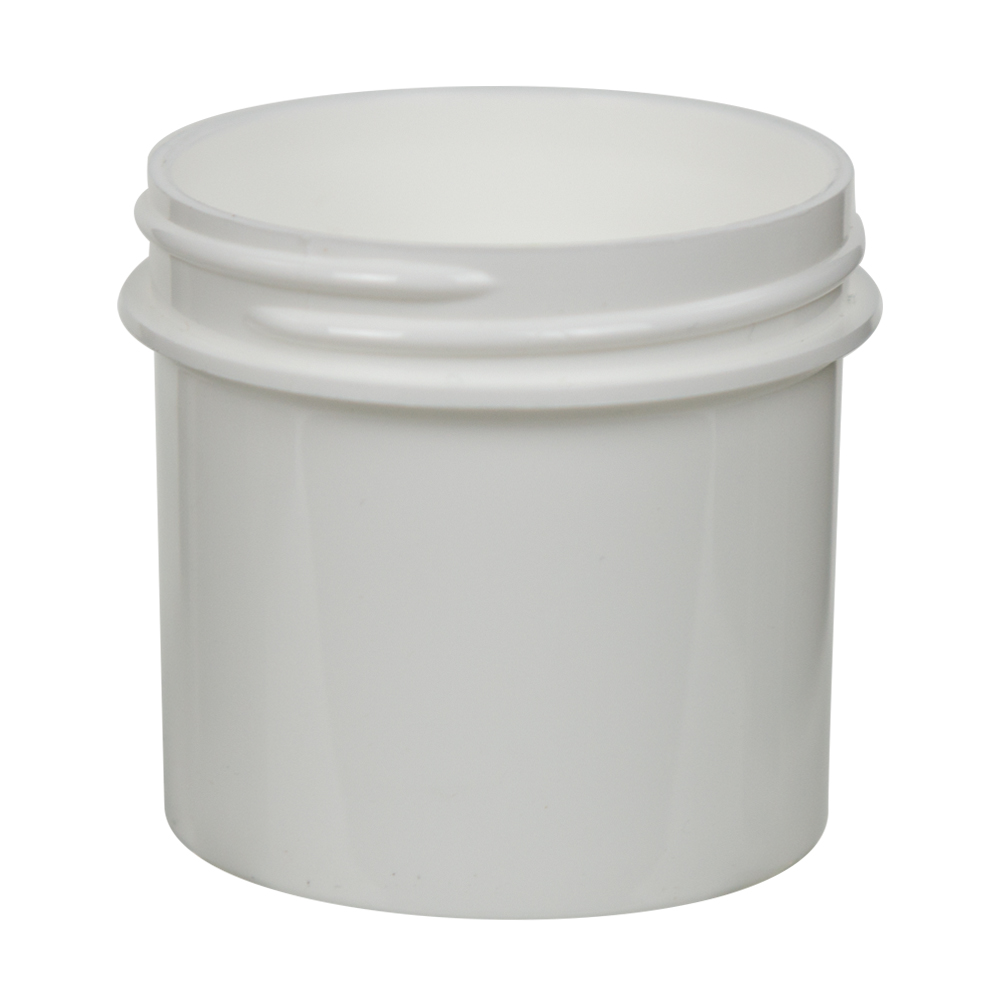 3 oz. Polypropylene Straight Sided White Jar with 58/400 Neck (Cap Sold Separately)