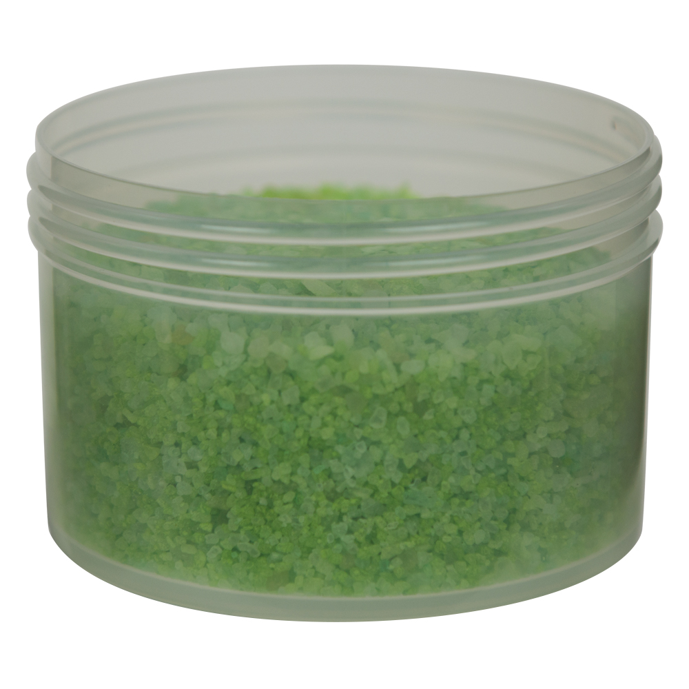 10 oz. Polypropylene Straight Sided Natural Jar with 100/400 Neck (Cap Sold Separately)