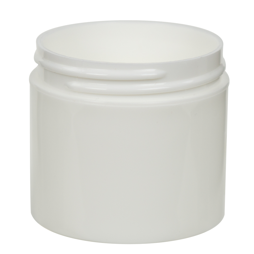 3 oz. White Polypropylene Straight Sided Thick Walled Jar with 58/400 Neck (Cap Sold Separately)
